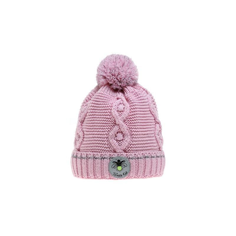 Wintervariante mit Zopfmuster Pink Mist, Rosa