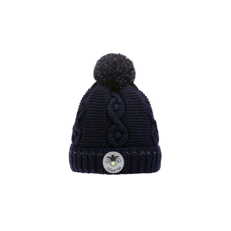 Wintervariante mit Zopfmuster, Peacoat, Dunkelblau