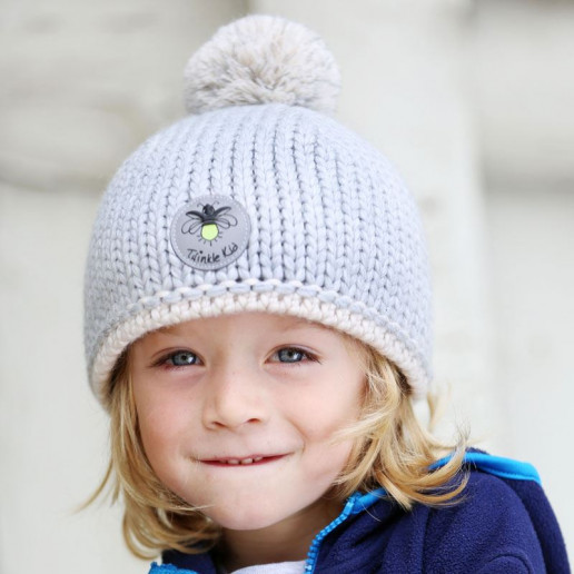 Wintermütze Gray Violet