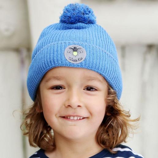 Twinkle Kid - reflektierende Mütze, Bio-Baumwolle, blau