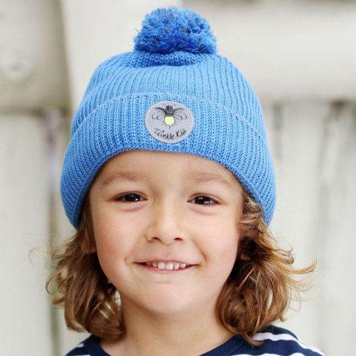 Twinkle Kid - reflektierende Mütze, Bio-Baumwolle, marina, blau
